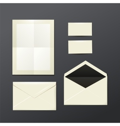 Template of white envelopes paper and postage vector