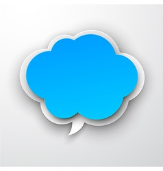 Paper blue cloud vector
