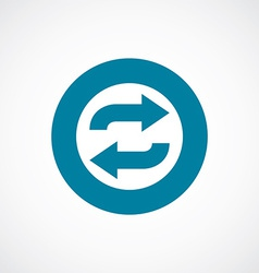 Auto play icon bold blue circle border vector