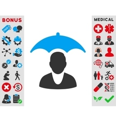 Patient safety icon vector