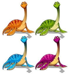 Dinosaurs with long neck vector image