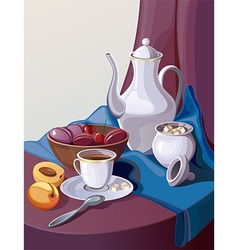 Still life painting vector