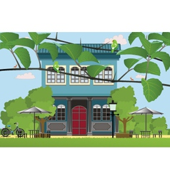 Villa restaurant vector
