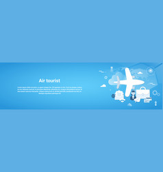 air tourist web horizontal banner with copy space vector image