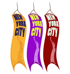 Banner design for new york city vector