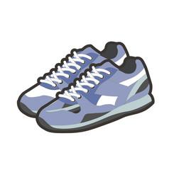 blue sportive footwear vector image vector image