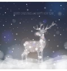 Christmas deer silhouette vector