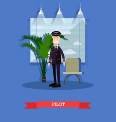 Commercial airlines pilot vector