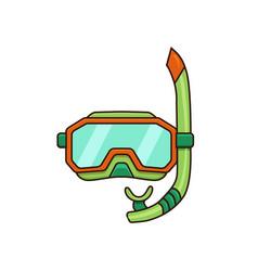 diving mask flat vector image
