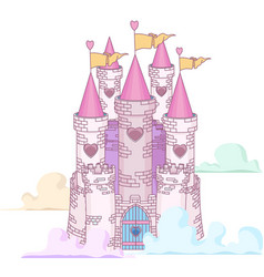 Fairy castle vector