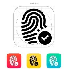 Fingerprint accepted icon vector