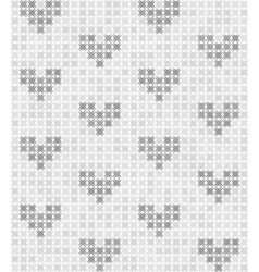 Gray and white abstract pattern with hearts vector