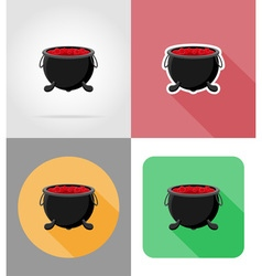 Halloween flat icons 08 vector
