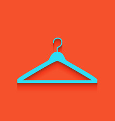 Hanger sign whitish icon on vector