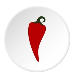 Hot pepper icon flat style vector