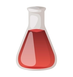 Lab flask isoaled vector