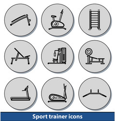 light sport trainer icons vector image