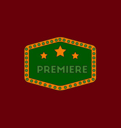 Movie label in flat style vector