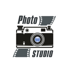 photo studio camera icon vector image