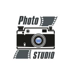 photo studio camera icon vector image vector image
