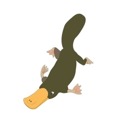 Platypus icon cartoon style vector