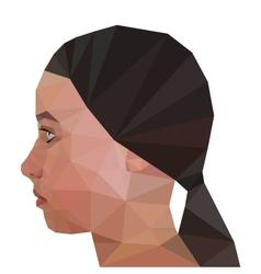 Profile of girl geometric triangular stile vector