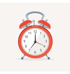 red wakeup clock Flat Design vector image