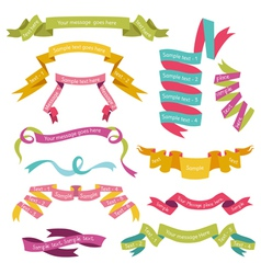Set of Colorful Ribbons for your Text vector image vector image