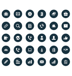 Set of simple teamwork icons elements personal vector