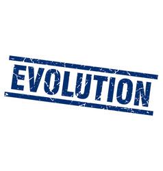Square grunge blue evolution stamp vector