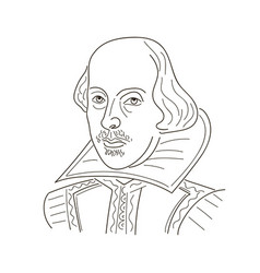 william shakespeare sketch black vector image vector image