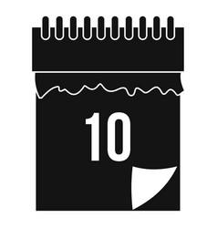10 date calendar icon simple style vector