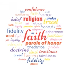 Faith tag cloud vector