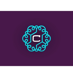 Monogram template with letter vector