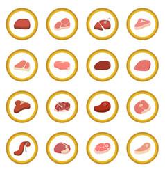 steak icon circle vector image