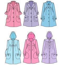 Raincoats vector image