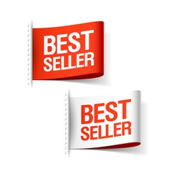 Bestseller labels vector