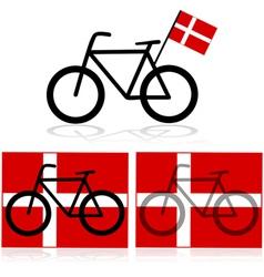 Danish bicycle vector image