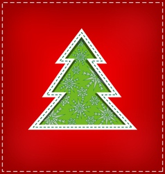Carved christmas tree vector