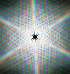 Mystic shiny star with with optical aberrations vector