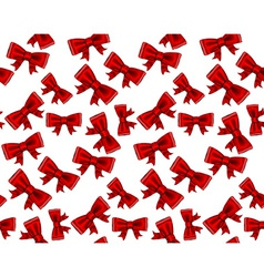 Celebrate seamless background of red bows vector