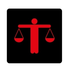 Lawyer icon vector