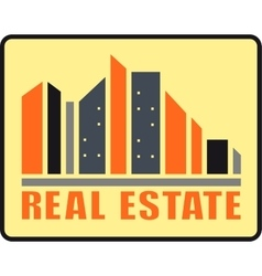 Real estate urban icon vector