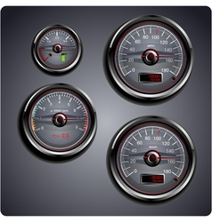 Car gauges vector