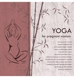 Yoga for pregnant woman background vector
