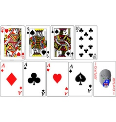 Set of playing cards vs vector