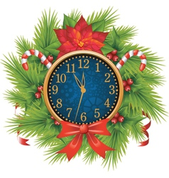 Christmas clocks vector