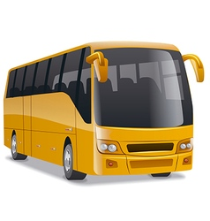 Golden comfortable city bus vector