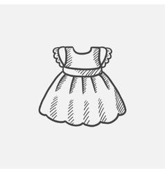 Baby dress sketch icon vector image vector image