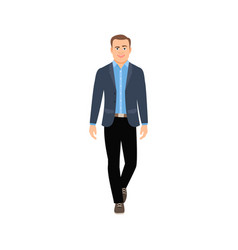businessman in casual clothes vector image